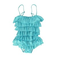 Sexy Ruffled Retro Swim Costume/ Bathing Suit/ Swimwear in One Piece