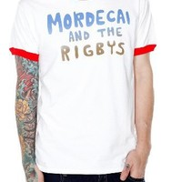 Regular Show Mordecai And The Rigbys Ringer T-Shirt Size : Large