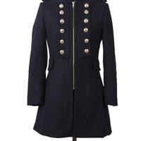 New Western Autumn & Winter Section Slim Woolen Overcoat,Cheap in Wendybox.com