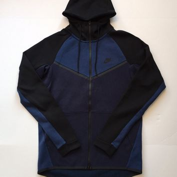 KUYOU Nike Sportswear Tech Fleece Hoodie Obsidian Heather Black 885904-473