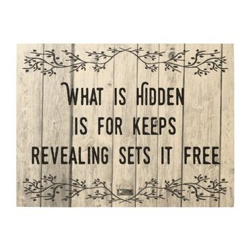Revealing Quote by Kat Worth Wood Wall Art