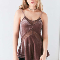 Kimchi Blue Mia Velvet Lace Slip Cami - Urban Outfitters
