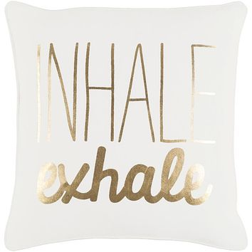 Glyph Pillow Cover - Cream, Metallic - Gold - GLYP7084