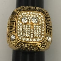 Los Angeles Lakers 2001 Championship Kobe Bryant Replica Gold Clad Solid Ring Xx