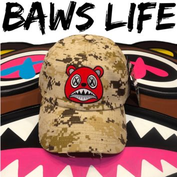 Angry Baws Desert Digi Camo Distressed Dad Hat
