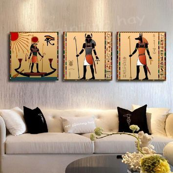 Art Oil Painting 3pcs canvas abstract living room No Frame