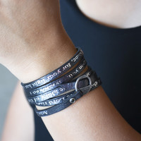 Bible Verse Wrapped Leather Bracelets | Isaiah 60:1