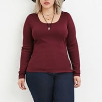 Plus Size Classic Ribbed Top