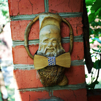 "Wooden bow tie ""Tefal"". Handicraft unique men accessory. Manly gift. #WoodenBowtie #Jules_Verne"
