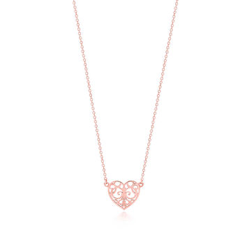 Tiffany & Co. - Tiffany Enchant® heart pendant in RUBEDO® metal, mini.
