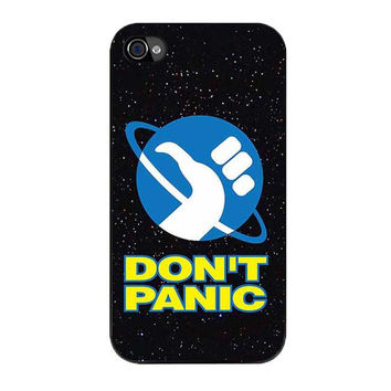 hitchhikers guide to the galaxy dont panic s5 iPhone 4 4s 5 5s 5c 6 6s plus cases