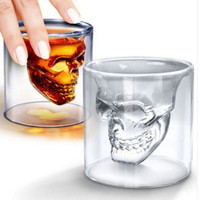 Skeleton Skull Punisher Greatful Dead Head Shot Glass See thru Party Cup