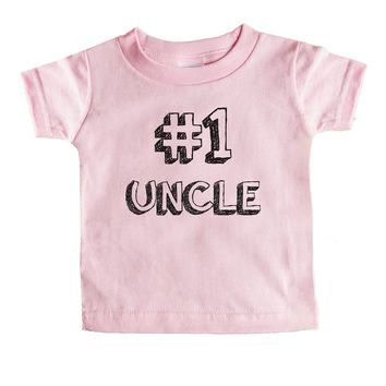 Number 1 Uncle Baby Tee