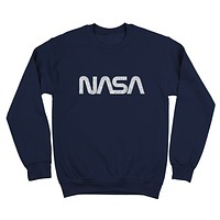 Retro Nasa Logo Crewneck Sweatshirt