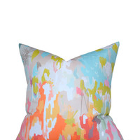 pillow cover in watercolor ikat | candy kirby designs