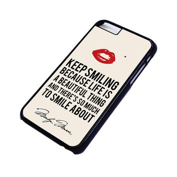 MARYLIN MONROE QUOTES iPhone 6 / 6S Case Cover