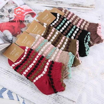 Vintage Thickened Frilly POP Top Sale Women's Socks Cool Gifts Punk Socks & Hosiery Simple High Quality Winter Socks GEM STREET