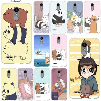 Hot Sale We Bare Bears For LG Spirit G2 G3 Mini G4 G5 G6 K4 K7 K8 K10 V10 V20 V30 Shell Soft TPU Silicon Mobile Phone Case Cover