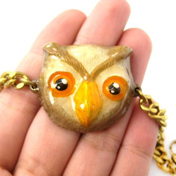 Unique Owl Bird Shaped Animal Enamel Pendant Bracelet | Limited Edition