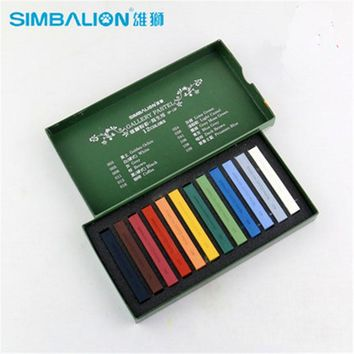 12Colors/Set Sketch Drawing Oil Pastel Art Supplies Children Painting Set Colored Chalk Stick Simbalion High Quality