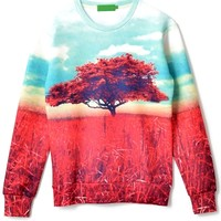 Autumn Panoramic Pattern Sweatshirt - OASAP.com