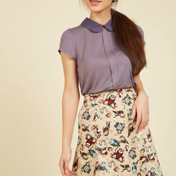 Owl of the Above A-Line Skirt | Mod Retro Vintage Skirts | ModCloth.com