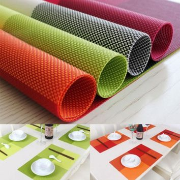 Home Table Decoration Accessories Heat-insulated Tableware PVC Chic Placemat Kitchen Dinning Bowl waterproof Pad Mat