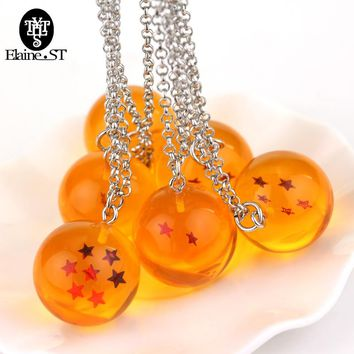 New Anime Goku Dragon ball 1-7 stars dragonball necklace Logo Pendants resin Lovely Gift Toys Anime Fan Best Gift maxi necklace