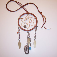 Brown Dream Catcher Necklace by BohoJane on Etsy
