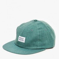Norse Projects Linen Flat Cap in Pale Teal
