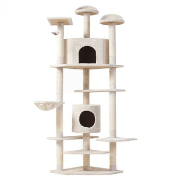 "80"" Condo Furniture Scratching Post Pet Cat Kitten House"
