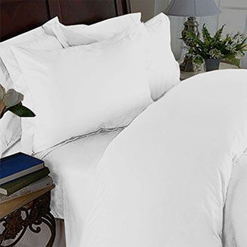 Elegant Comfort 3 Piece 1500 Thread Count Luxury Ultra Soft Egyptian Quality Coziest Duvet Cover Set, Full/Queen, Snow White