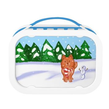 Snow Puppy Lunch Box