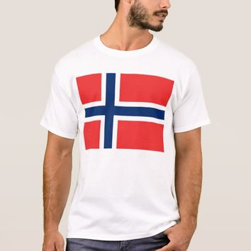 T Shirt with Flag of Norway