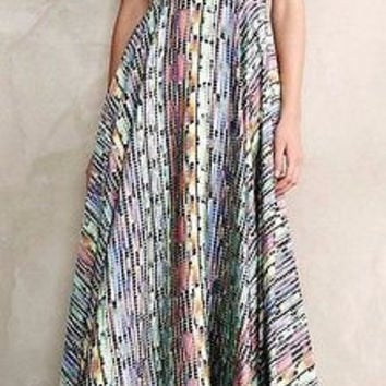 Anthropologie Ruka Cutout Petite Maxi Dress by Ranna Gill Sz M P - NWT