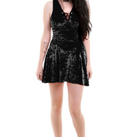 PRE-ORDER: Raven-ette Velvet Mini Dress