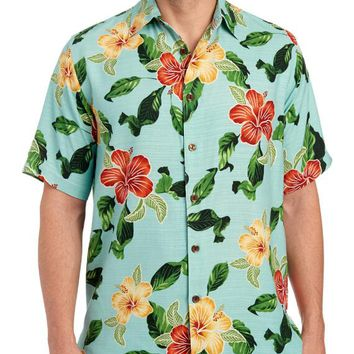 Exclusively Ours - Hawaiian Print Button Front Shirt