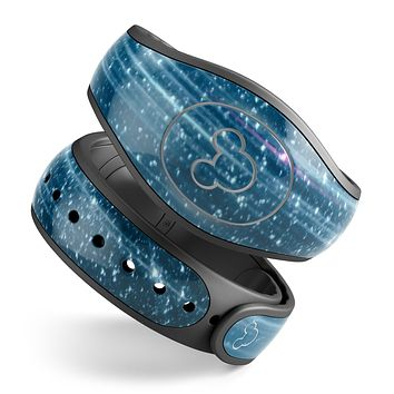 Radiant Blue Scratched Surface - Decal Skin Wrap Kit for the Disney Magic Band
