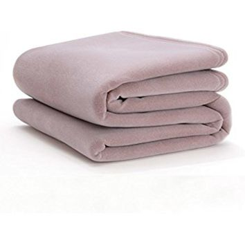 The Original Vellux Blanket - King, Soft, Warm, Insulated, Pet-Friendly, Home Bed & Sofa - Plum Rose