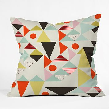 Hello Twiggs Modern Art Throw Pillow