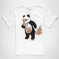 Riot Society Panda Cookies Boys T-Shirt White  In Sizes