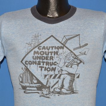 80s Caution Mouth Under Construction t-shirt Small