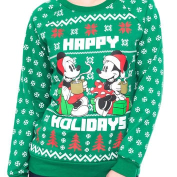 MICKEY AND MINNIE CHRISTMAS SWEATER - HOLIDAY