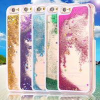 Ultra Thin Clear Back Case For iphone 6 Plus 5.5 Inch for apple6 4.7 Liquid Glitter Bling Sand Star Quicksand Mobile Phone Cover