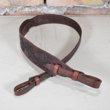 NEW Hand-Made Belt For Rifle / Unique Leather Strap Rifle / Excellent Leather Hand-Engraved / Strap Shotgun Adaptable /
