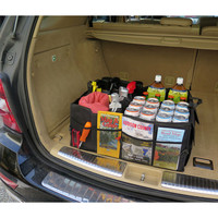 Evelots Foldable Cargo Storage Box Trunk Organizer W/ Handles,Vehicle Car, Black