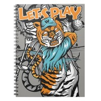 tiger golf player - Let's Play! - Spiral Notebook