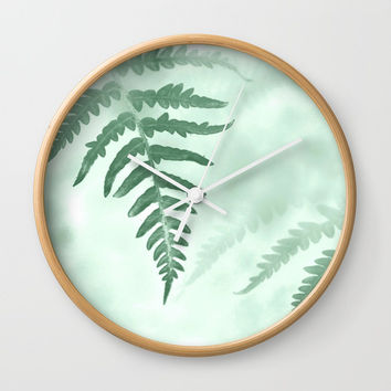 fern Wall Clock by ARTbyJWP