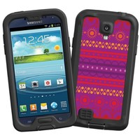 """Purple Tribal """"Protective Decal Skin"""" for LifeProof fre/nuud Samsung Galaxy S4 Case"""