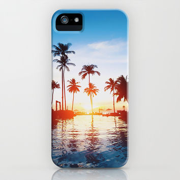 Paradise iPhone & iPod Case by Pink Berry Pattern